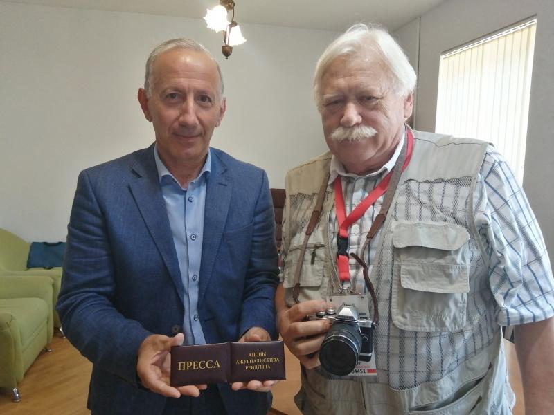Фотограф Сергей Лидов вступил в Союз журналистов Абхазии